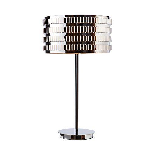 """Lampe De Table 25"""" Haut Acier Inoxydable"""