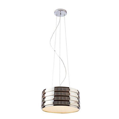 """Lampe Suspendue 16"""" Diamètre Acier Inoxydable"""