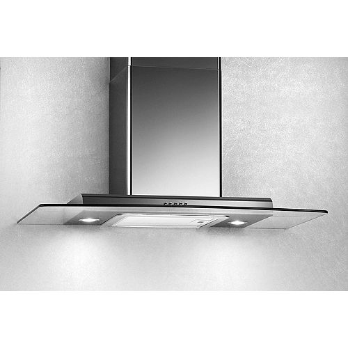 30-inch, 500 CFM Straight Glass Canopy Wall-Mount Range Hood in Stainless Steel