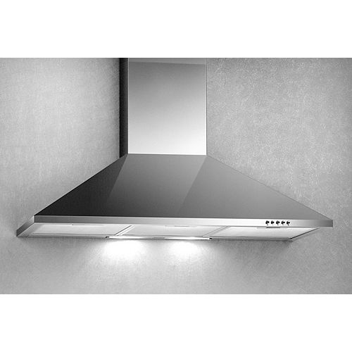 30-inch, 500 CFM Canopy Wall-Mount Range Hood in Stainless Steel with Halogen Lighting