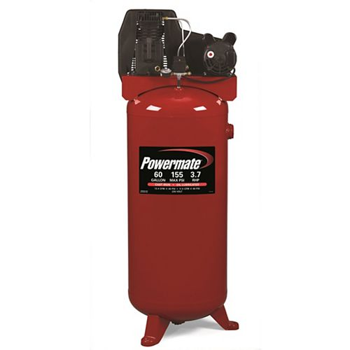 60 Gallon Stationary Twin Cylinder Cast Iron Air Compressor