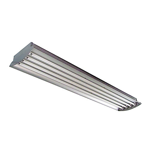 4 Feet 4-Lamp High Output 32-Watt (Each) T8 Aluminum High Bay Light Fixture