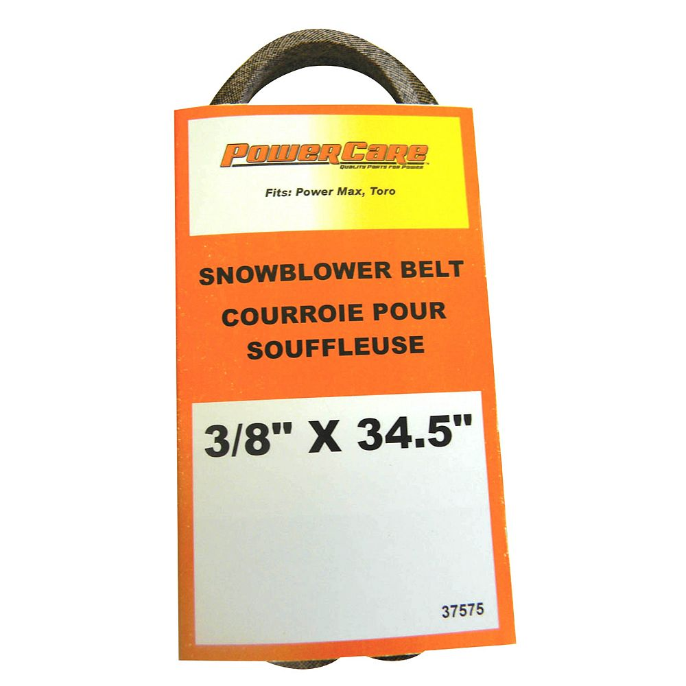 Power Care 3/8-inch x 34.5-inch Snowblower Belt - Fits Power Max 6000: 726, 826, 828, 1028 OXE, LE, OE, LXE