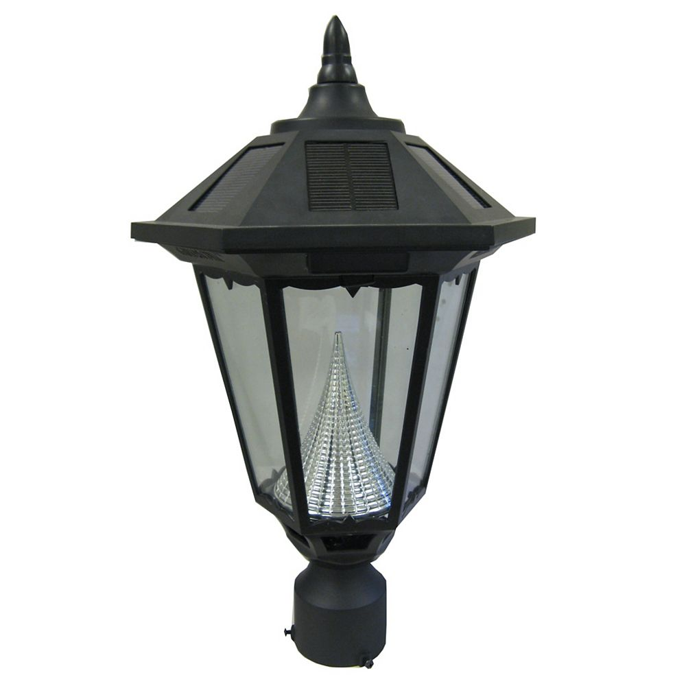 """Gama Sonic Windsor lampe solaire, 3"""" monteur mount, noir"""