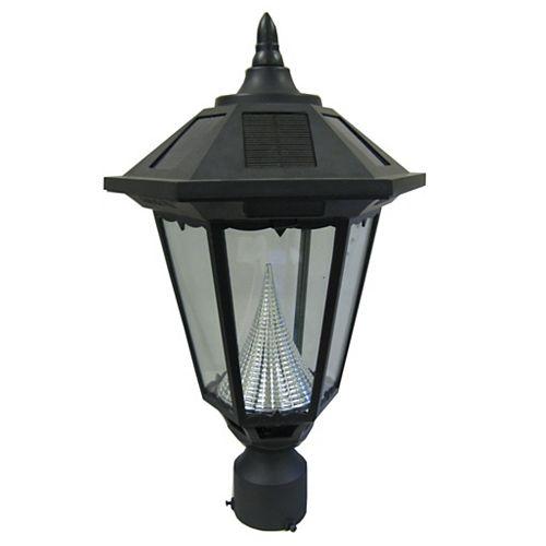 """Windsor lampe solaire, 3"""" monteur mount, noir"""