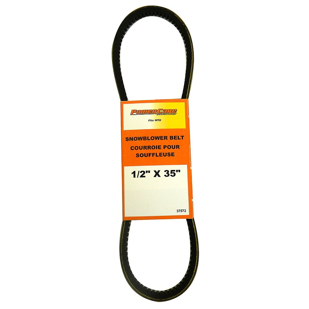 Power Care Snowblower Belt - Fits Two Stage Snowblowers, 2005 and Newer