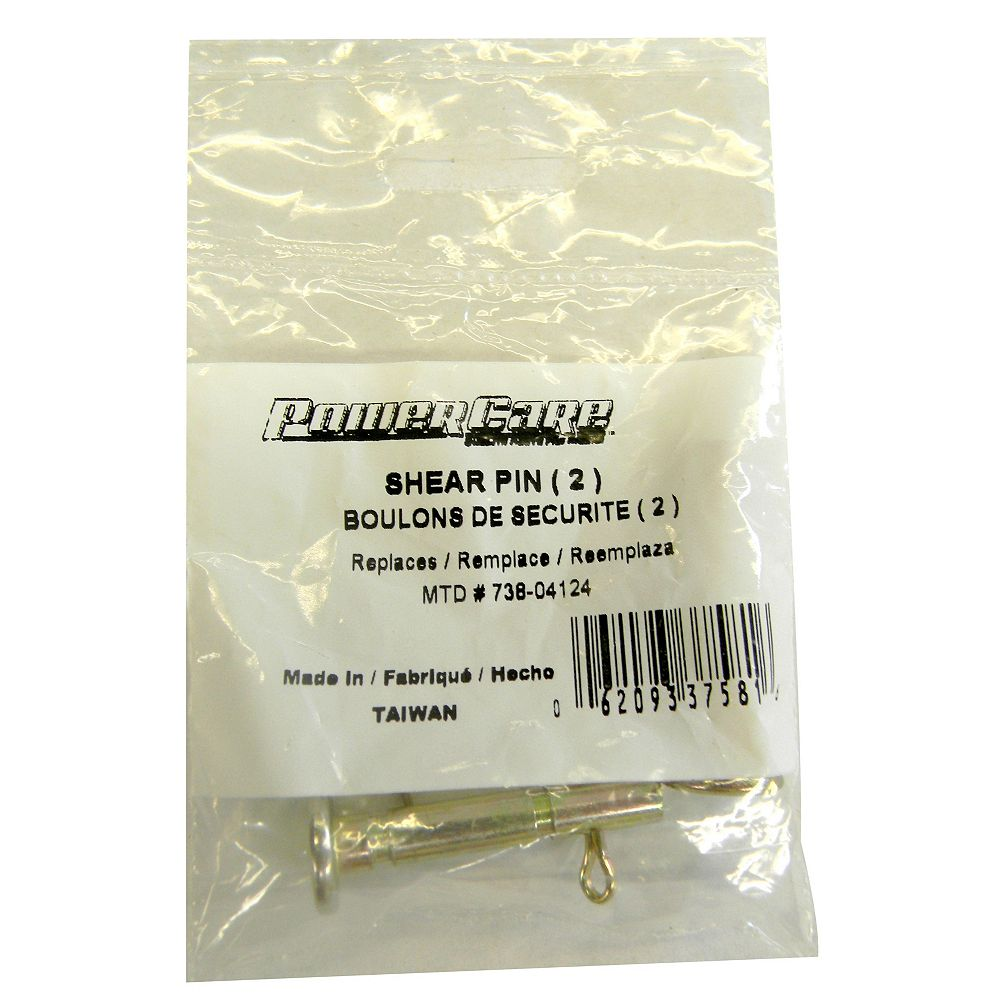 Power Care Shear Pins - Fit 2005 and Newer Snowblowers