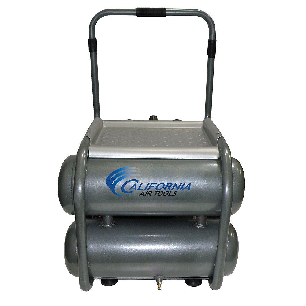 California Air Tools California Air Tools 250DLT Compresseur d'air avec réservoir double, lubrifié à l'huile, 18,92 l (5.0 gal), 2,0 CV