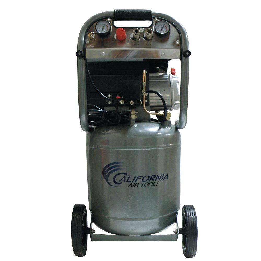 California Air Tools California Air Tools 210DLV Compresseur d'air avec réservoir vertical en acier , lubrifié à l'huile, 37,85 l (10.0 gal), 2,0 CV