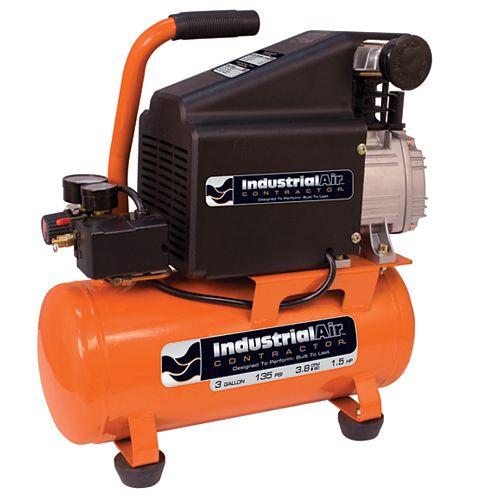 3 Gallon Hotdog Oil Lube Air Compressor