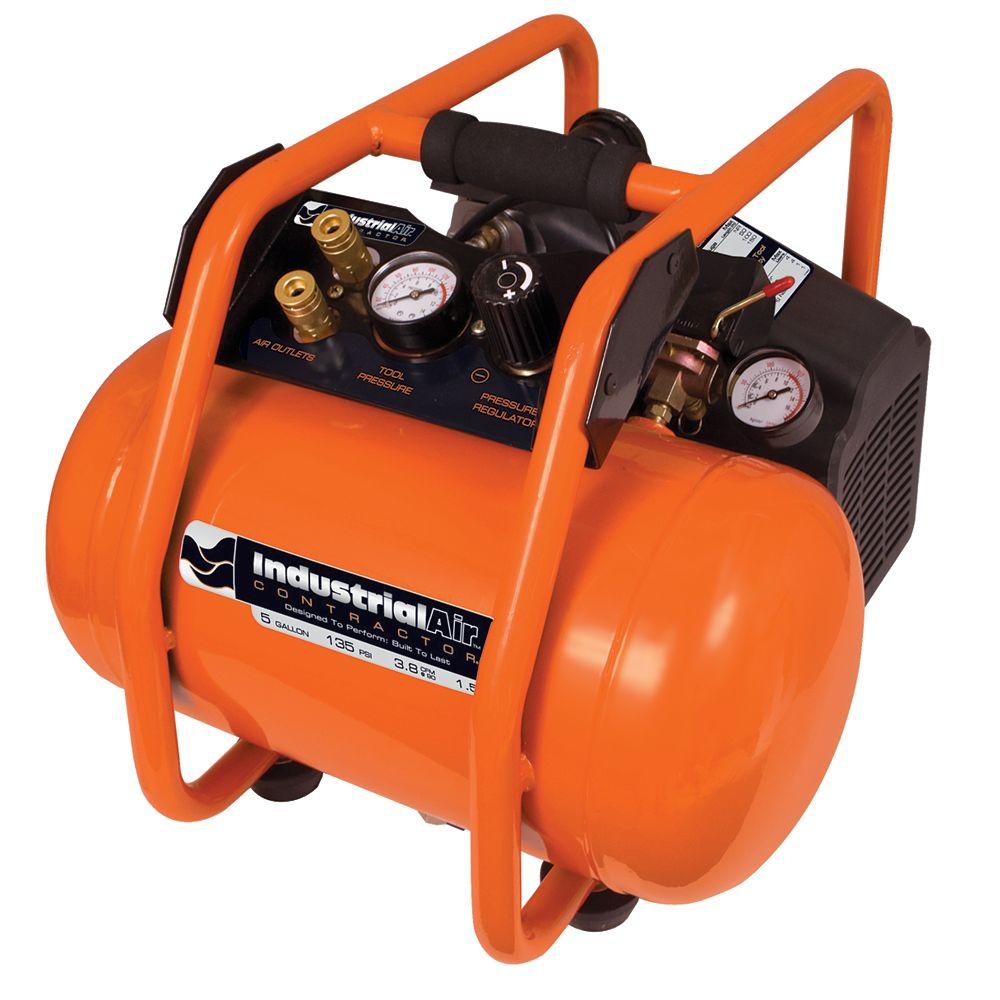 Industrial Air Compresseur dair lubrifié à lhuile, à prise directe et avec cage de retournement  18,9 litres