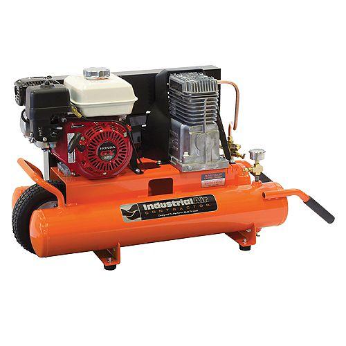 8 Gallon Portable Gas-Powered Wheelbarrow Air Compressor