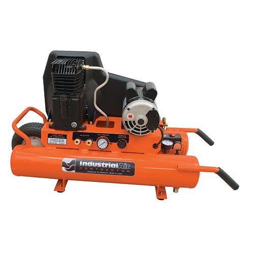 8 Gallon Electric Wheelbarrow Oil Lube Air Compressor