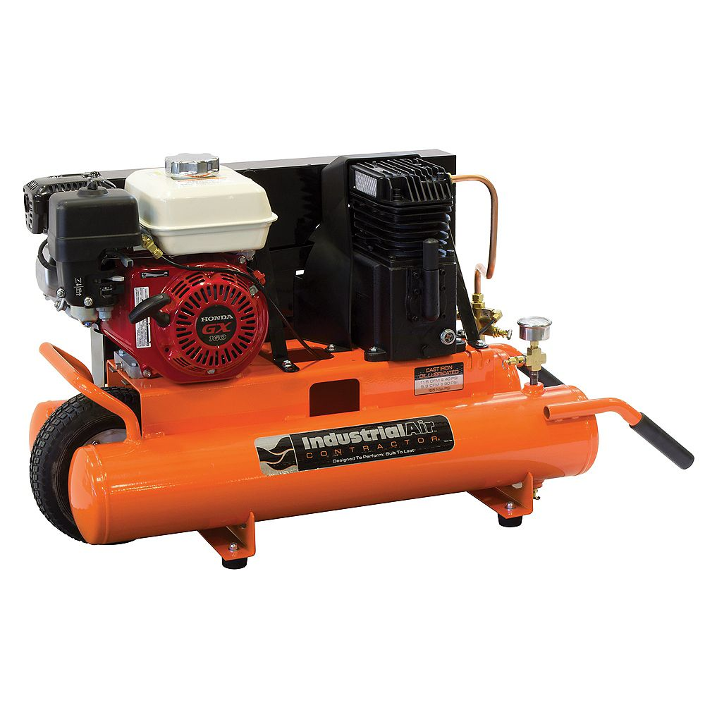 Industrial Air 8 Gallon Portable Gas-Powered Air Compressor with 5.5 HP Honda Engine