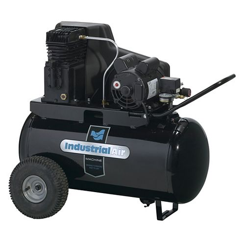 20 Gallon Electric Air Compressor with Wheels, 155 psi