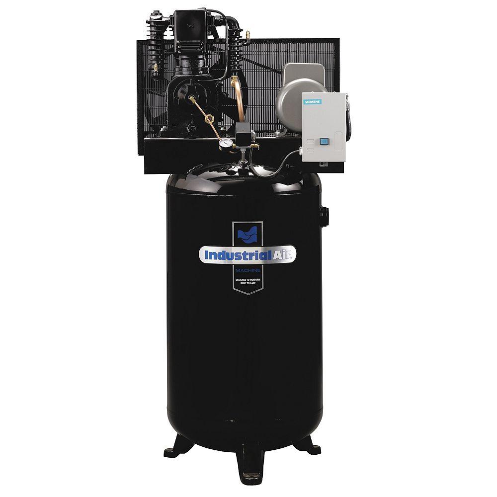 Industrial Air Compresseur dair  de 5.2 RHP, 2 étages, 1 phase et démarreur magnétique  302,8 litres