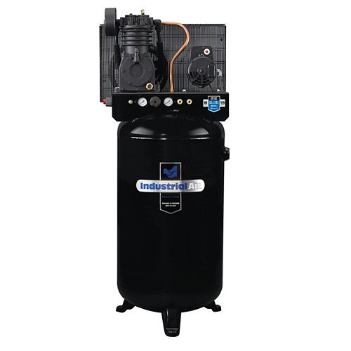 5.2 RHP, 80 Gallon Two-Stage Air Compressor with Control Panel