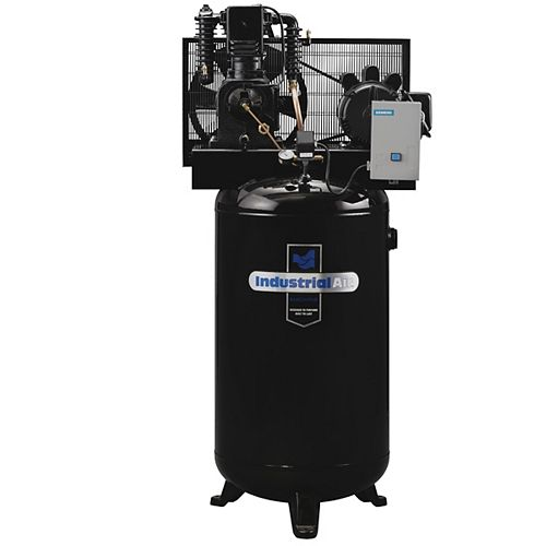 7.5 RHP, 80 Gallon Two-Stage, Single Phase Air Compressor with Magnetic Starter
