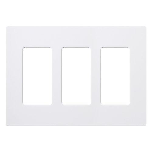 Claro 3-Gang Wall Plate - White