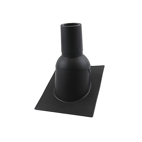 3 inch Black new roof/re-roof vent pipe flashing