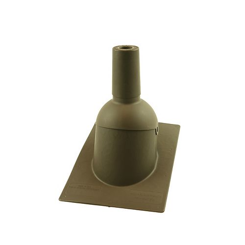 1.5 inch Brown new roof/re-roof vent pipe flashing