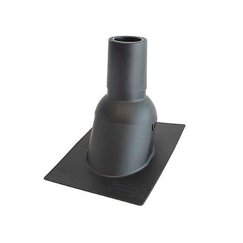 4 inch Black new roof/re-roof vent pipe flashing