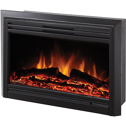 Electric Fireplace Insert, Gloss Black - 25 Inch