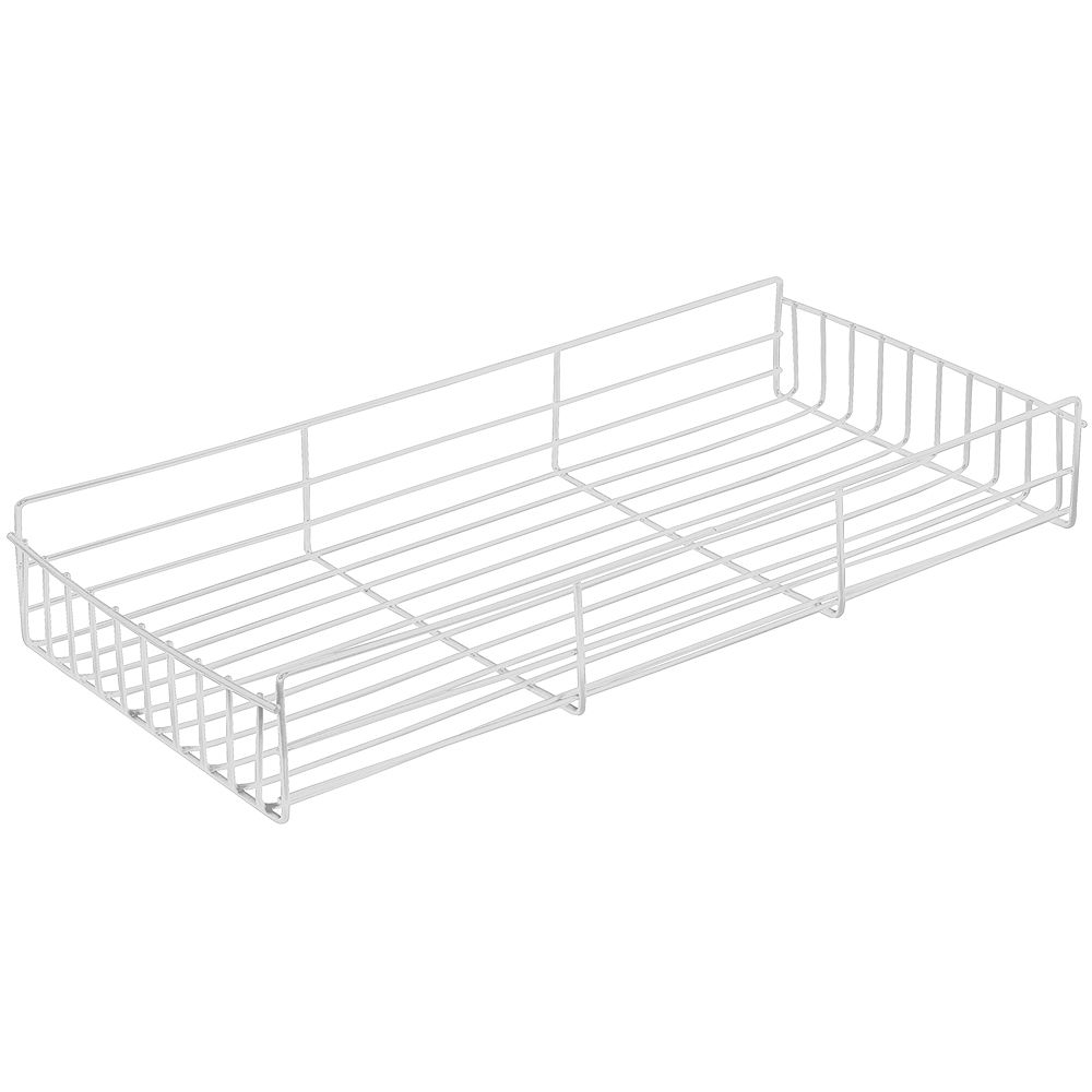Knape & Vogt White Side-Mount Pantry Basket - 10 Inches Wide