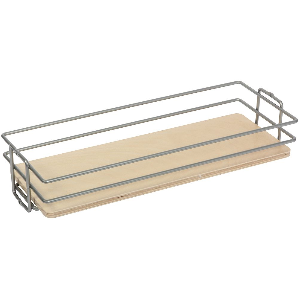 Knape & Vogt Frosted Nickel Center-Mount Pantry Basket - 11 Inches Wide