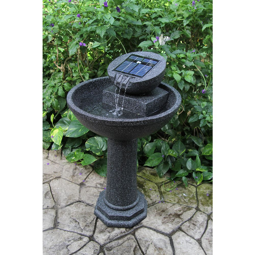 Greenway Rosella 36.4-inch Solar Fountain with Reaslistic Granite Finish