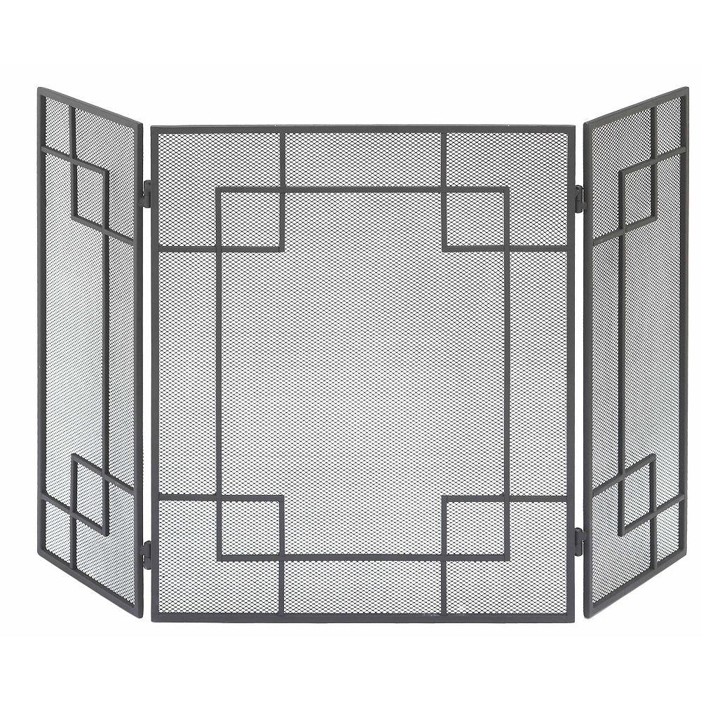 Muskoka Écran de foyer Manhattan de Muskoka, largeur         35.6 po, noir mat