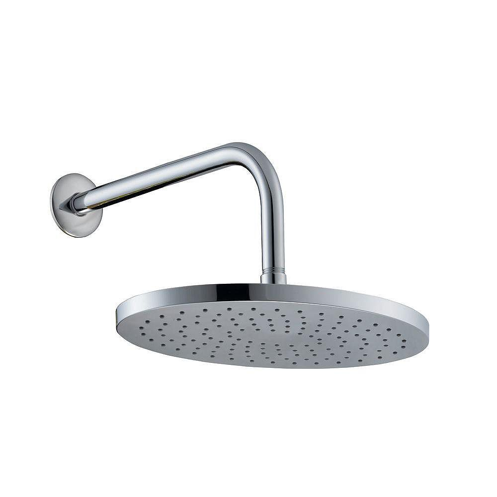 Glacier Bay 10 Inch Oval Showerhead With 12 Inch Stainless Steel Arm & Flange In Chrome