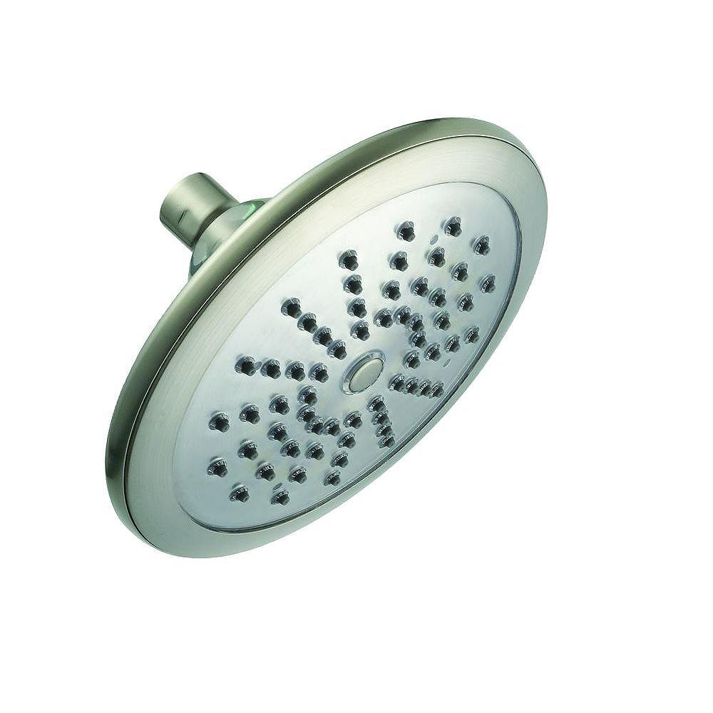 Glacier Bay Water Powered Led Lighted Showerhead Single Functioning Brushed Nickel