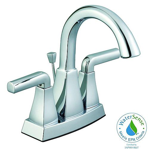 Glacier Bay 12,000 Series 4 Inch 2-Handle Lavatory Faucet In Chrome