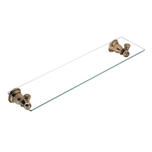 Kingsley Glass Shelf in Antique Bronze