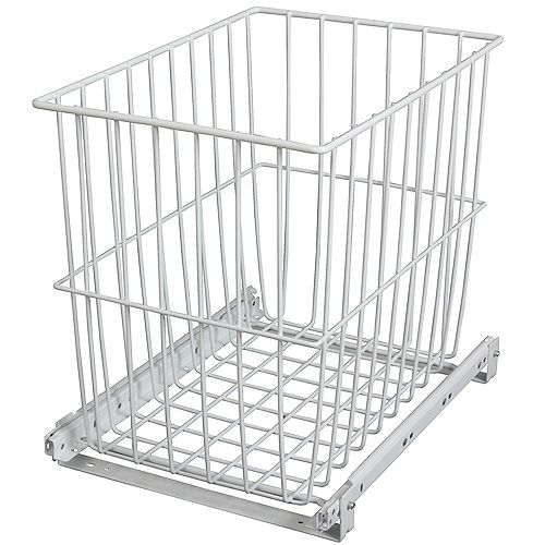 Roll-Out Wire Hamper - 11.4375 Wide x 14.625 Inches Tall