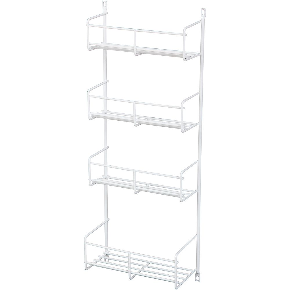 Knape & Vogt Door Mounted White Spice Rack - 7.8125 Inches Wide
