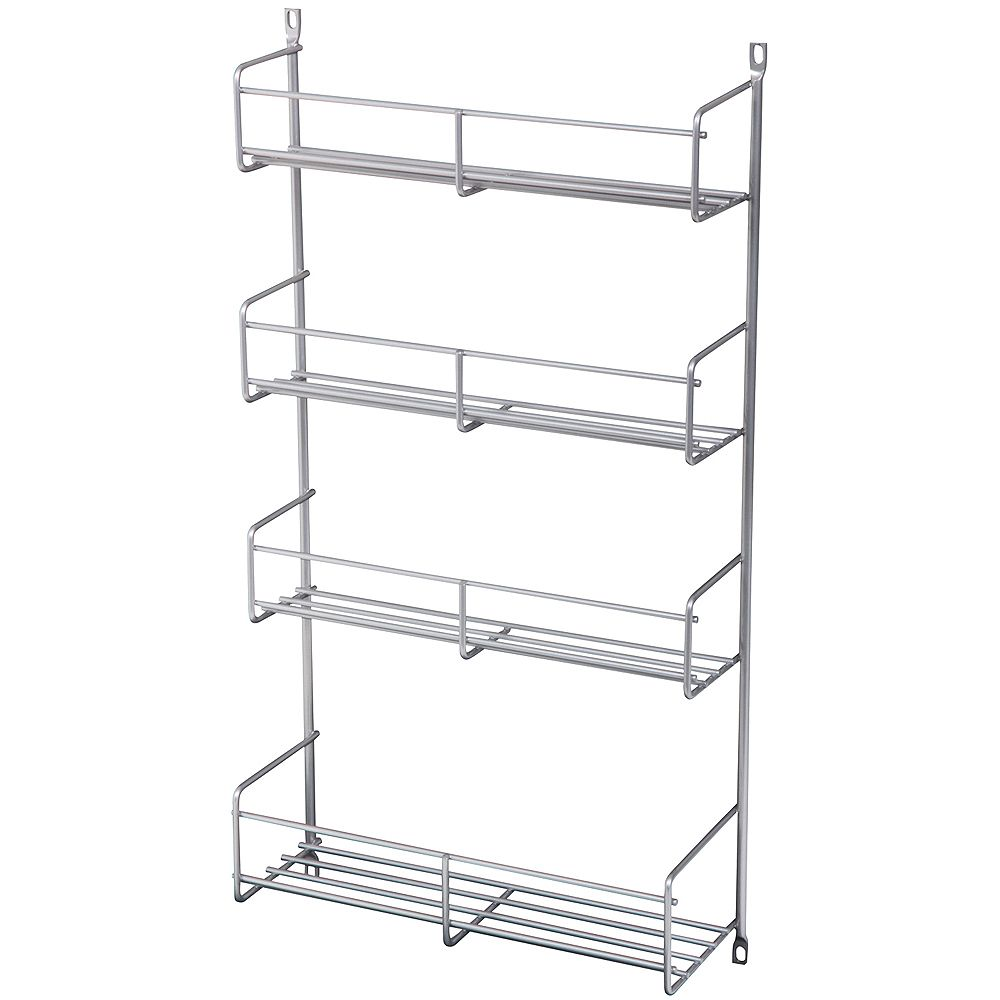 Knape & Vogt Door Mounted Frosted Nickel Spice Rack - 13.8125 Inches Wide