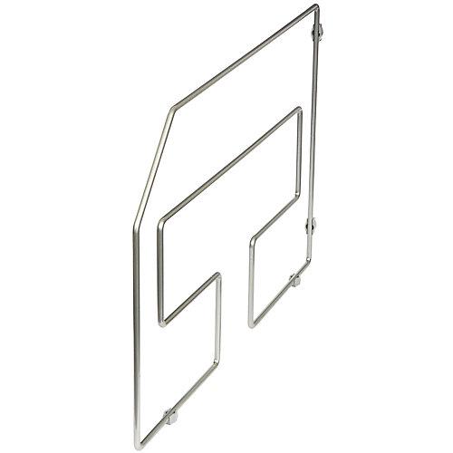 Séparateur à plateaux de service nickel givré, emballage simple - 12 pouces de hauteur