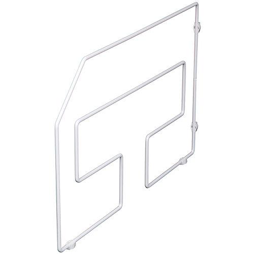 Séparateur à plateaux de service blanc, emballage simple - 12 pouces de hauteur