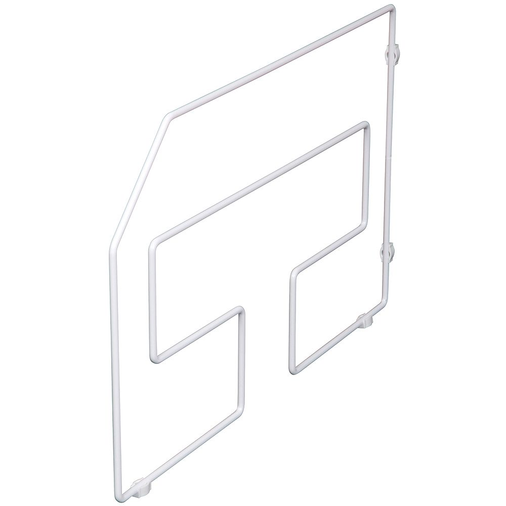 Knape & Vogt White Tray Divider - 12 Inches Tall