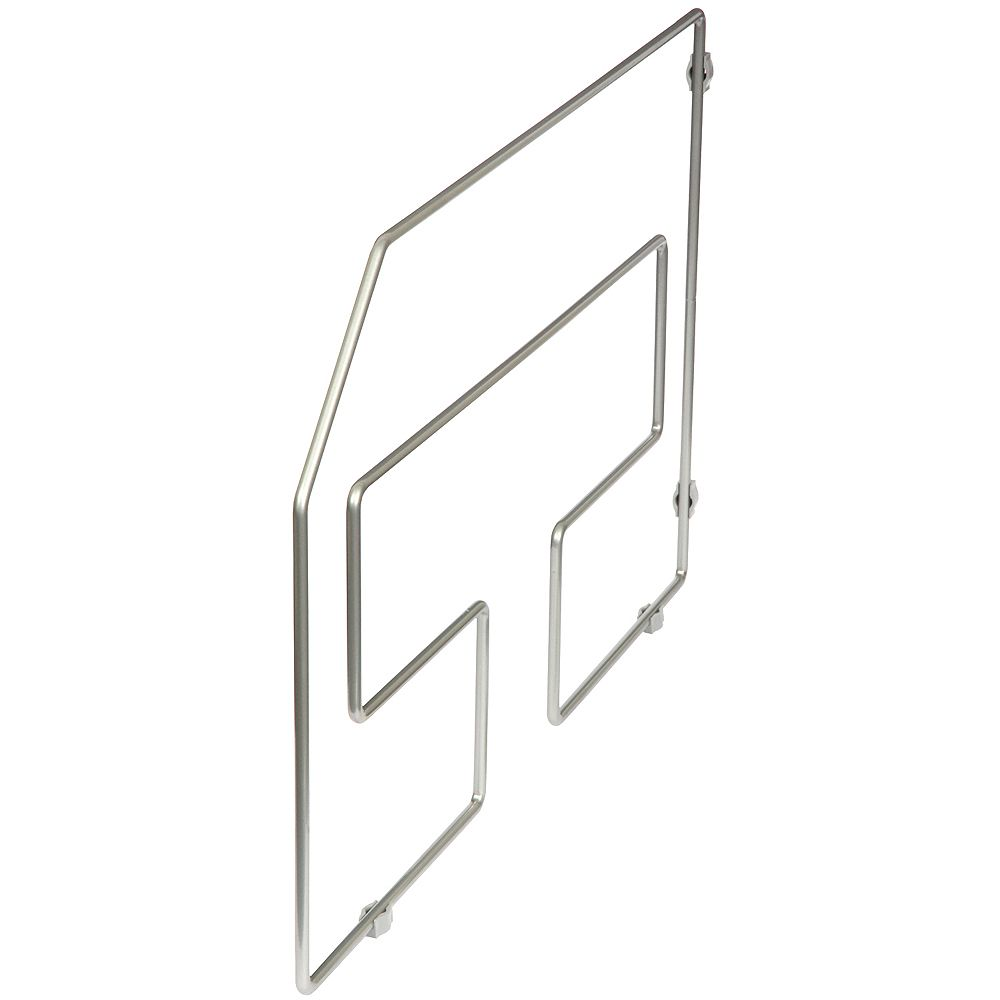 Knape & Vogt Frosted Nickel Tray Divider - 12 Inches Tall (10-Pack)