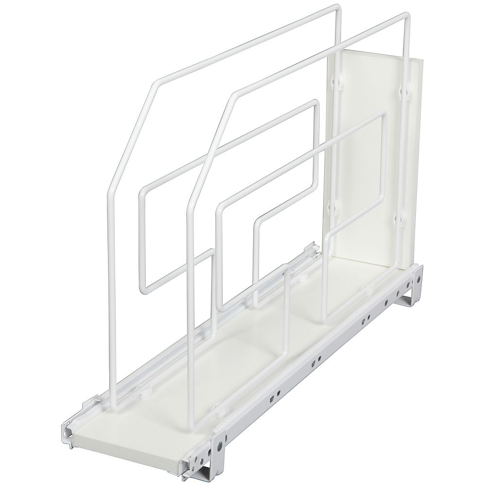 Knape & Vogt White Tray Divider Roll-Out - 6 Inches Wide