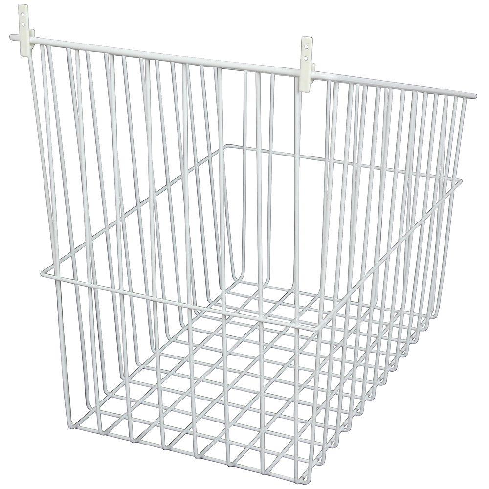 Knape & Vogt Tip-Out Wire Hamper - 10.5 Inches Wide