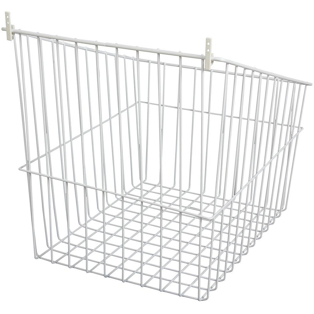 Knape & Vogt Tip-Out Wire Hamper - 16.5 Inches Wide
