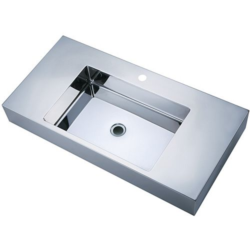 Vodasinks Mirror Polished Long Basin with Zero-Radius Corners