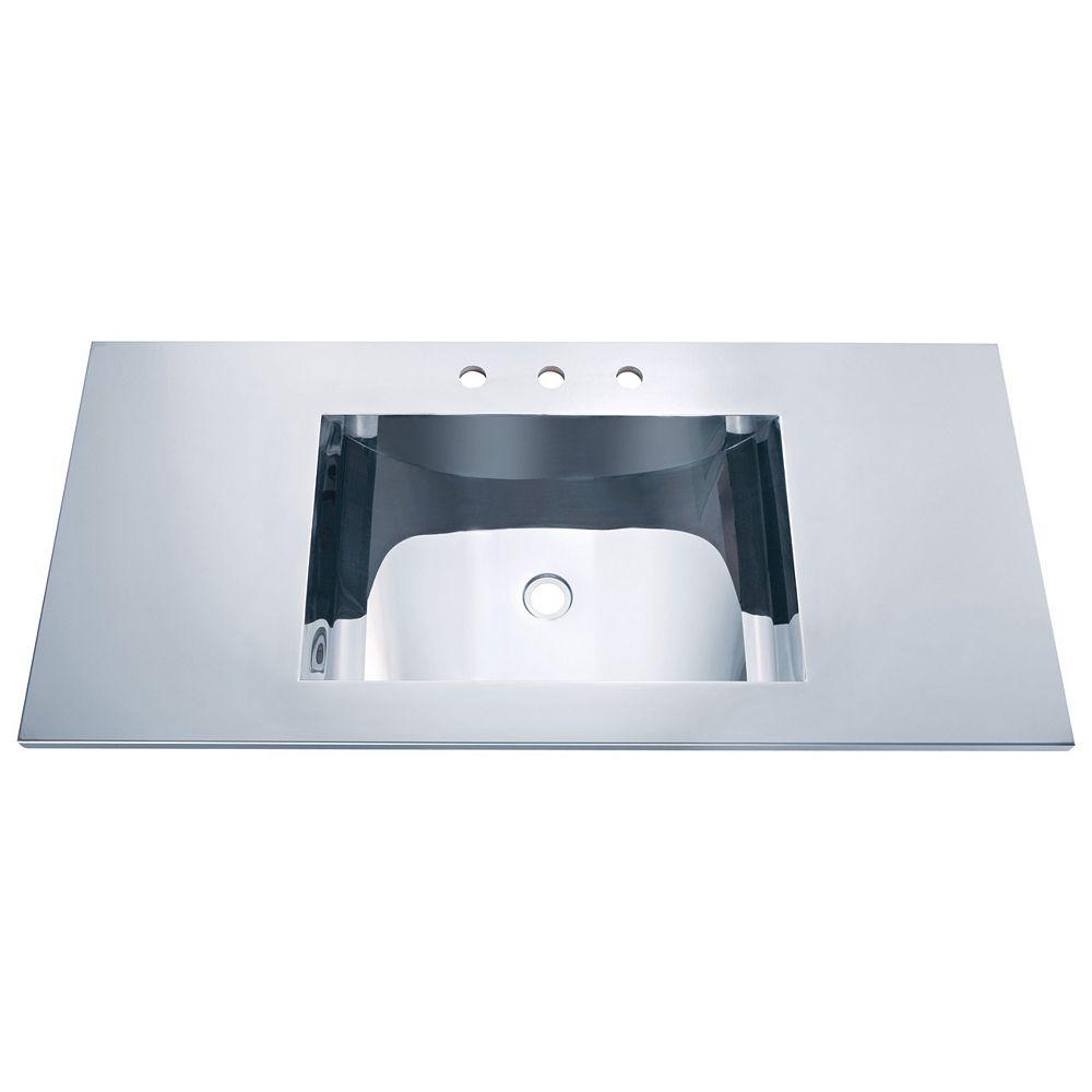 Vodasinks Mirror Polished Self-Rim Basin with Concave Bowl