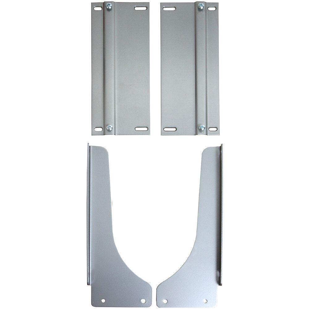 Knape & Vogt Frosted Nickel Waste Bin Door-Mount Kit
