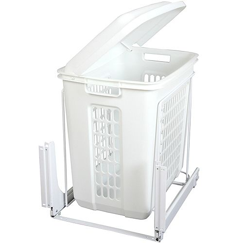 Knape & Vogt Door-Mounted Pull-Out Plastic Hamper