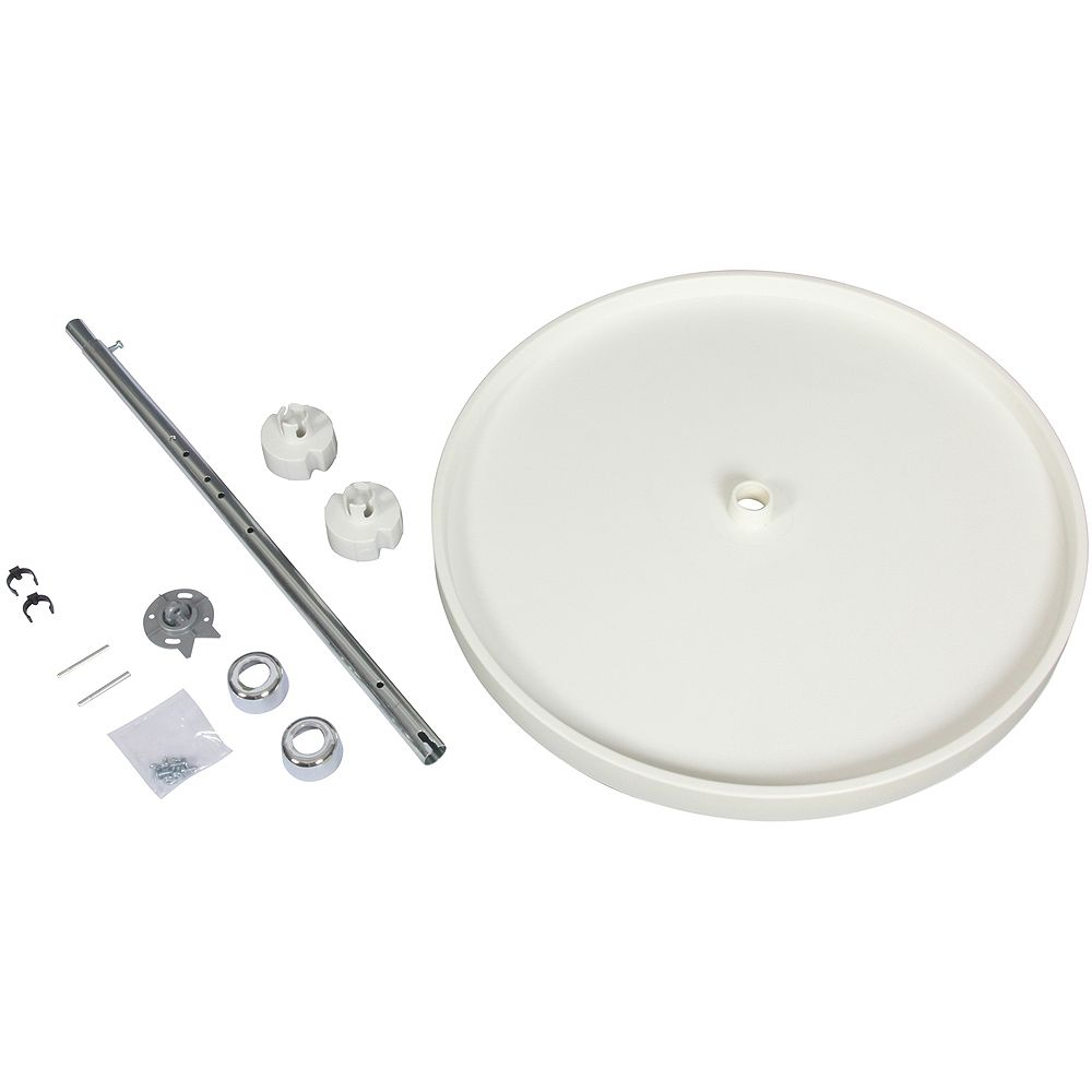 Knape & Vogt Full Round 10 Shelf Poly Lazy Susan With 5 Hardware Sets - 20 Inches Diameter